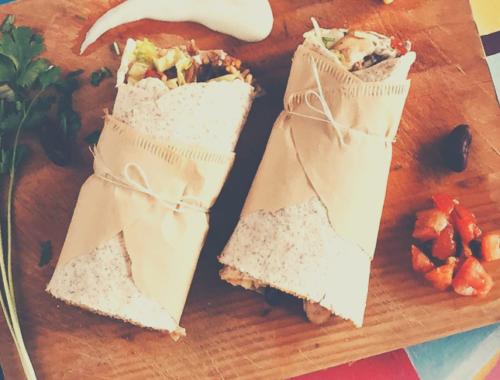 brunch burritos recipe with chorizo and avocado salsa