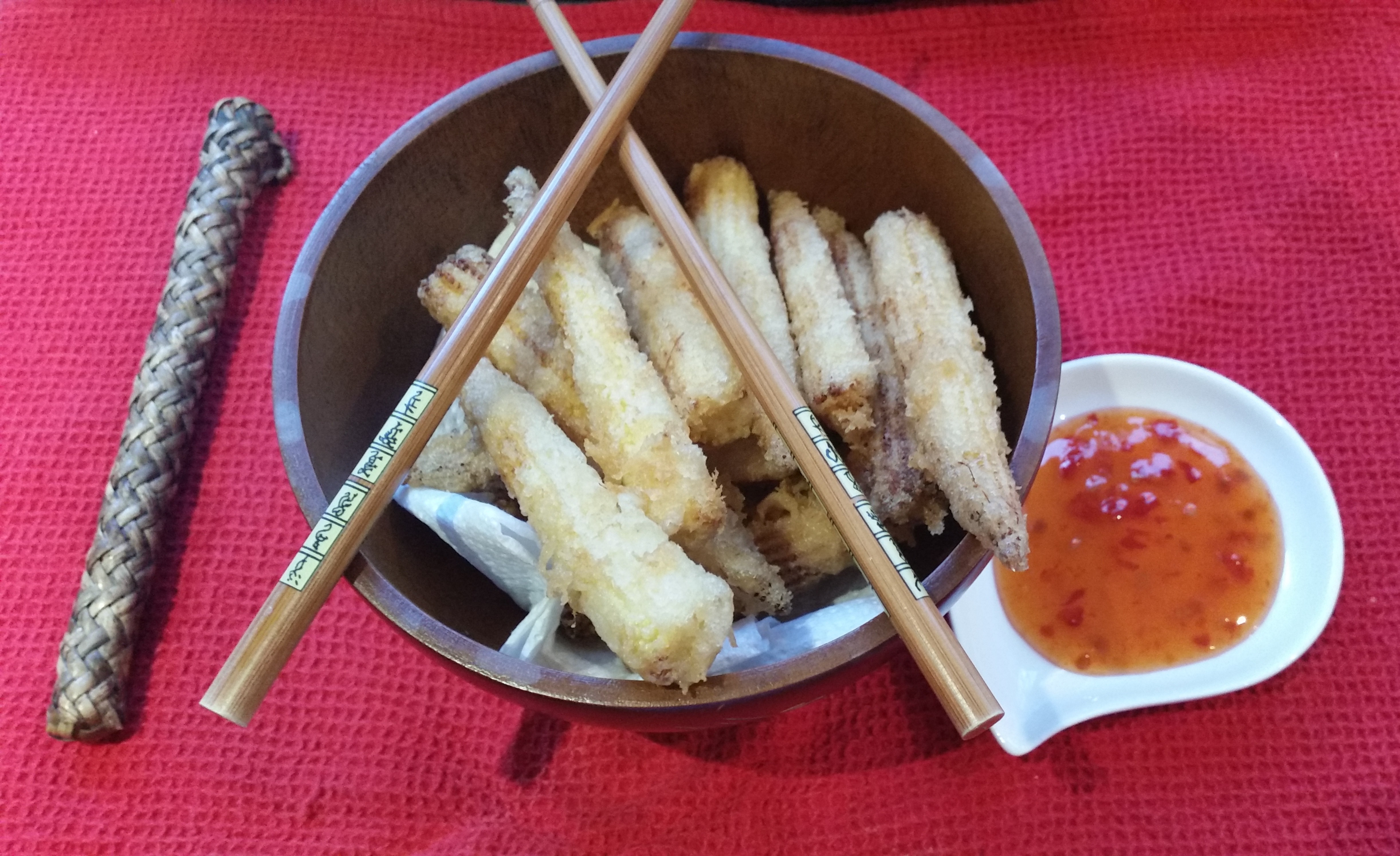 Baby Corn Tempura made with Tonic Water batter