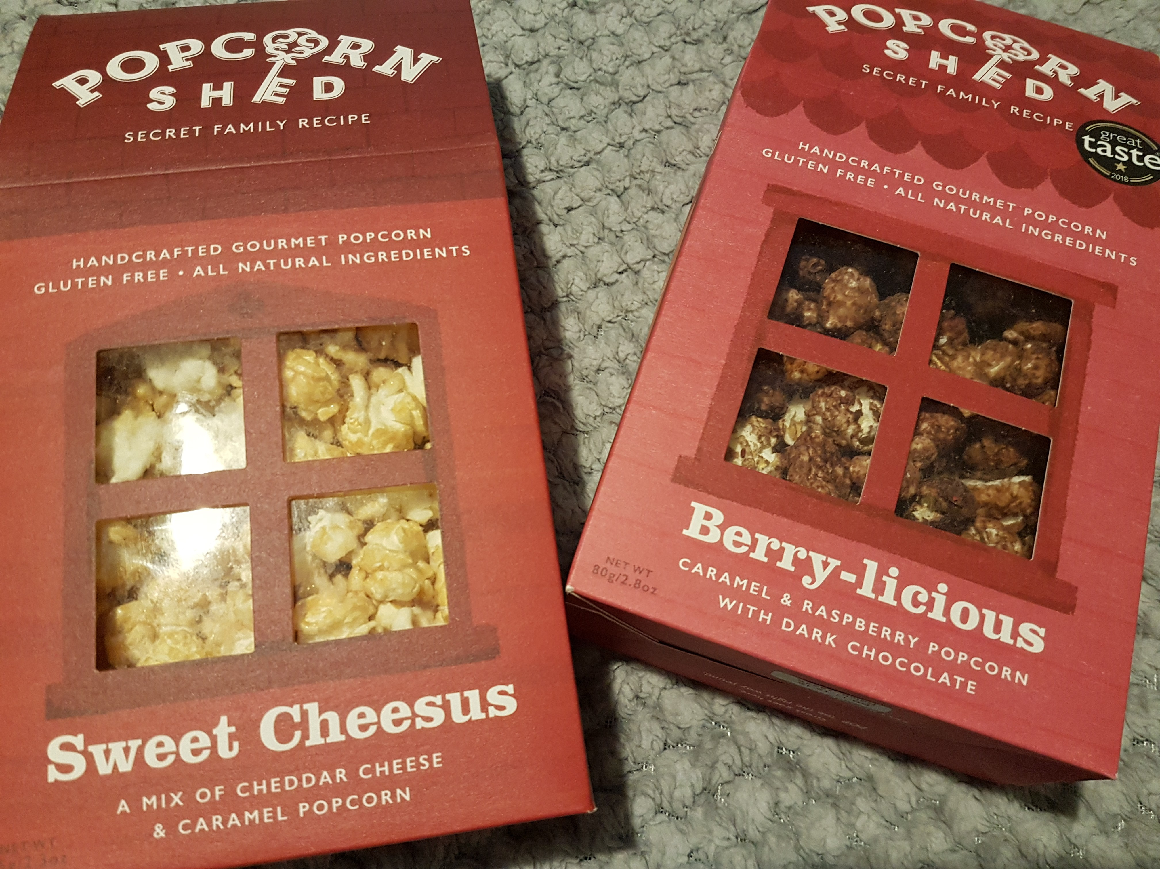 Popcorn Shed gourmet popcorn available in a range of flavours, shed boxes are 80g