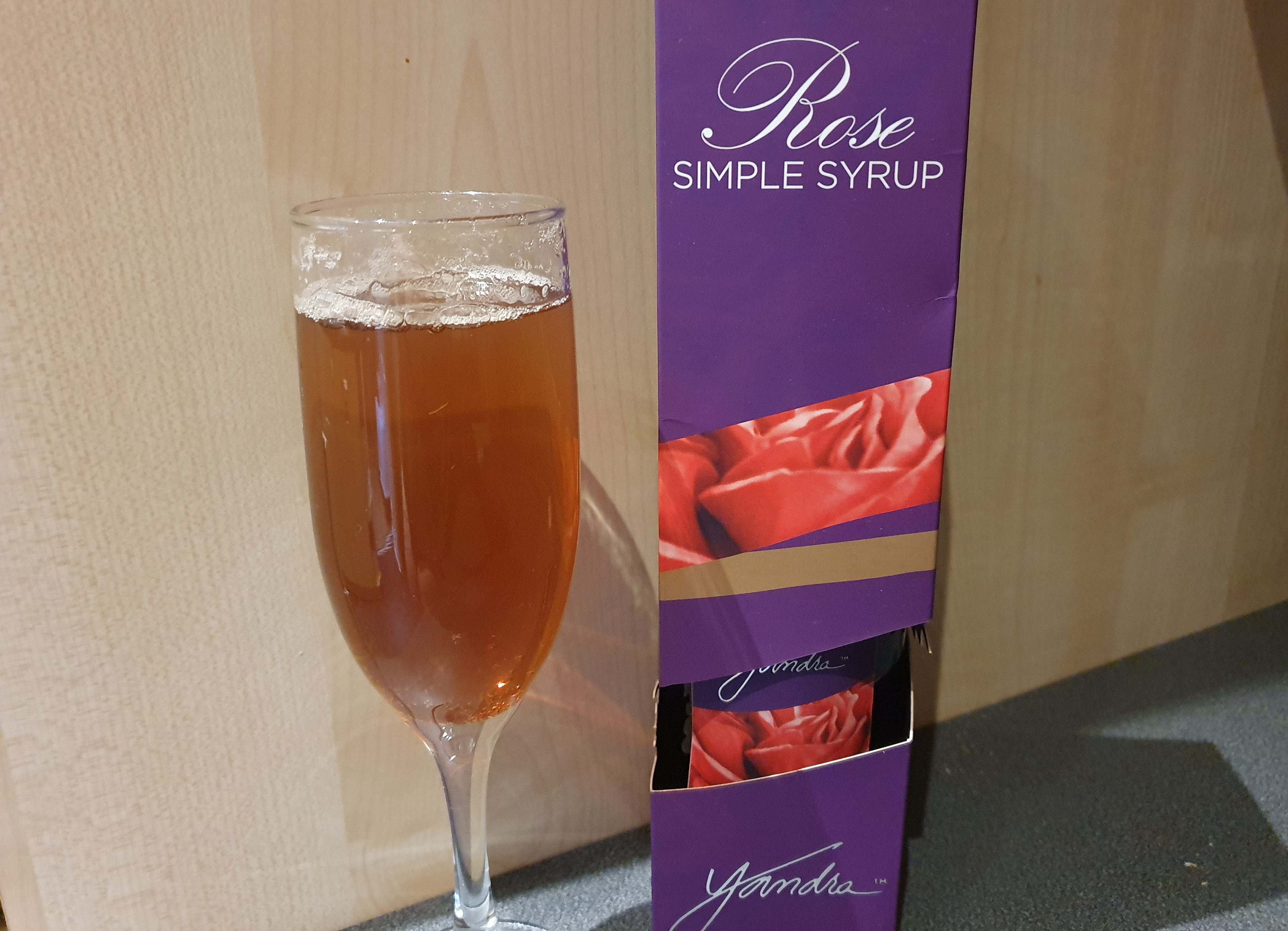 Yandra Rose Tea and Rose Simple Syrup, mix with sparkling water for a sweet refreshing drink