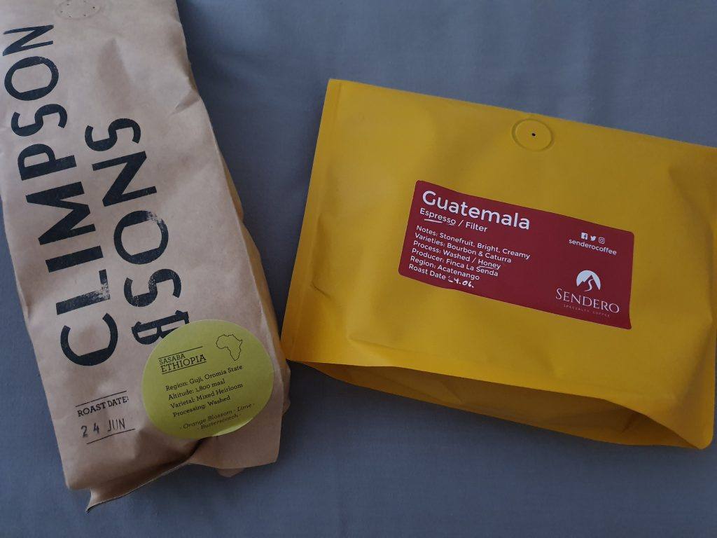 Guatemalan and Ethiopian coffee from Dog & Hat
