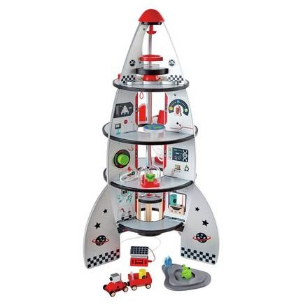 Christmas gift guide for toddlers, best wooden toys, Hape four-stage rocket