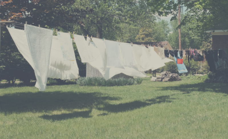 Benefits of drying your washing outside