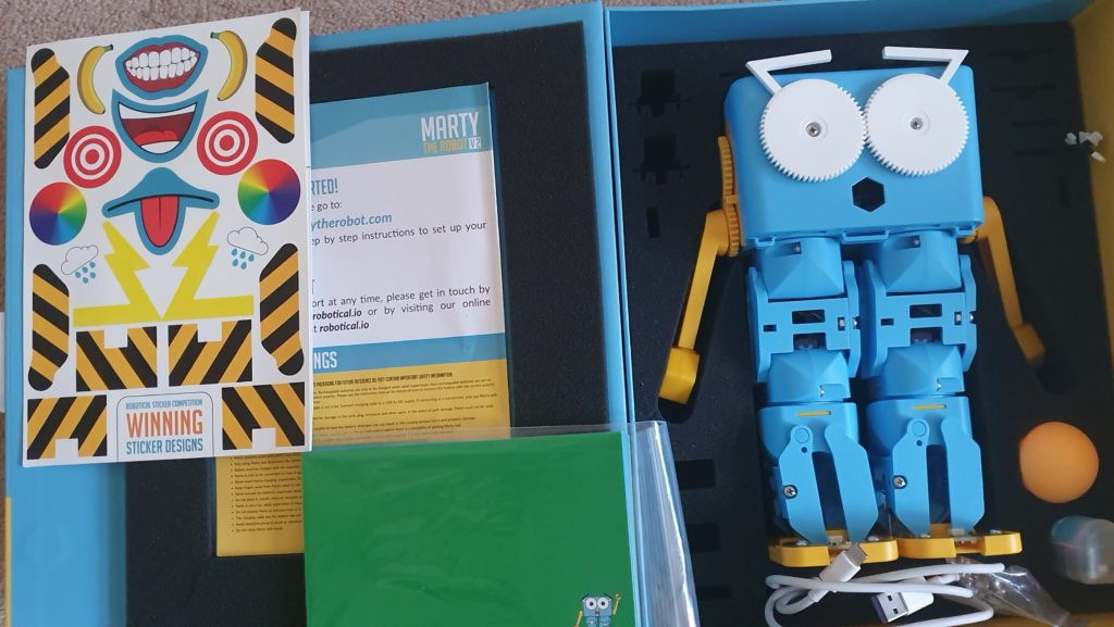making STEM fun with Marty the robot